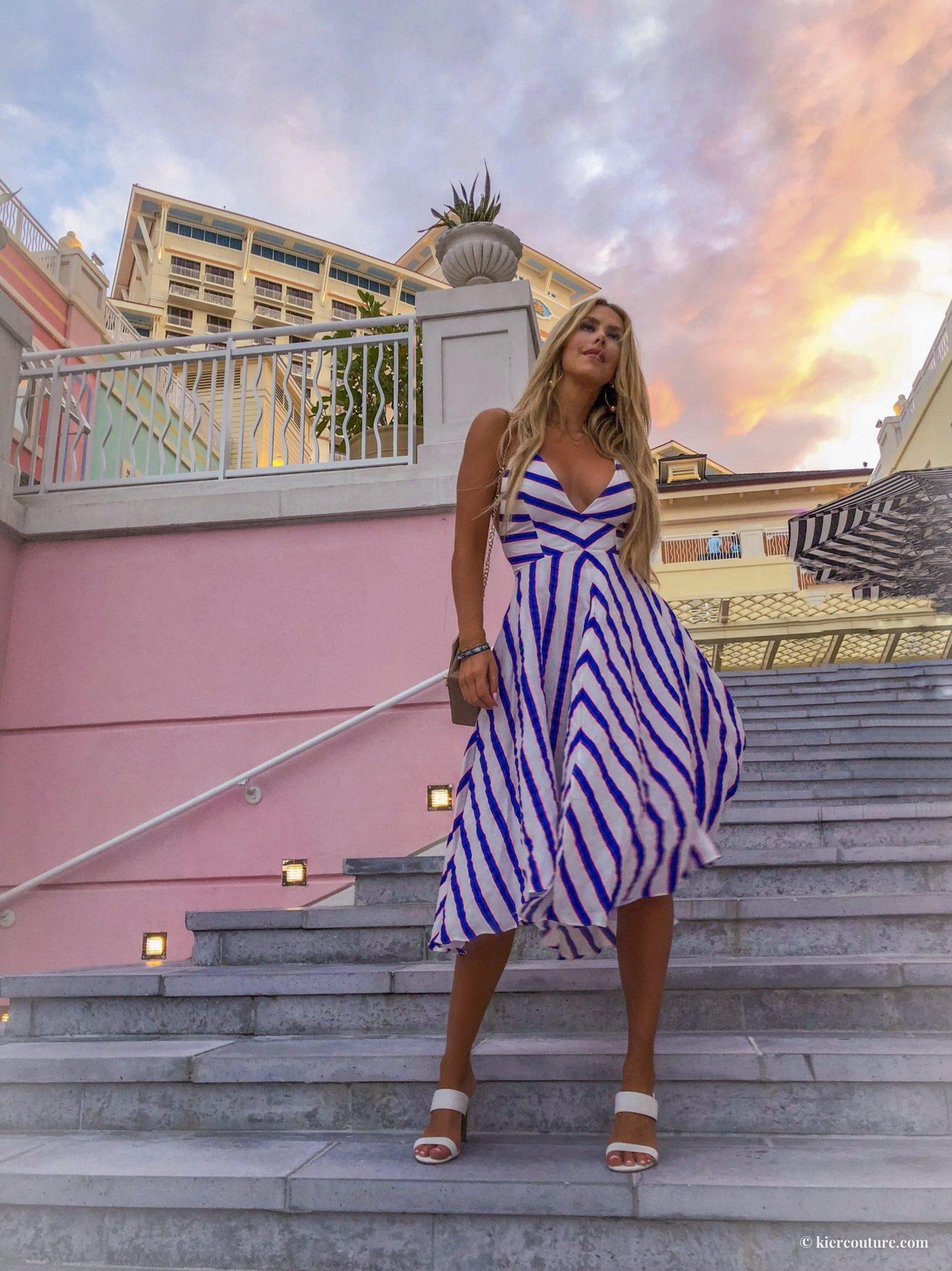 Milly stripe linen dress