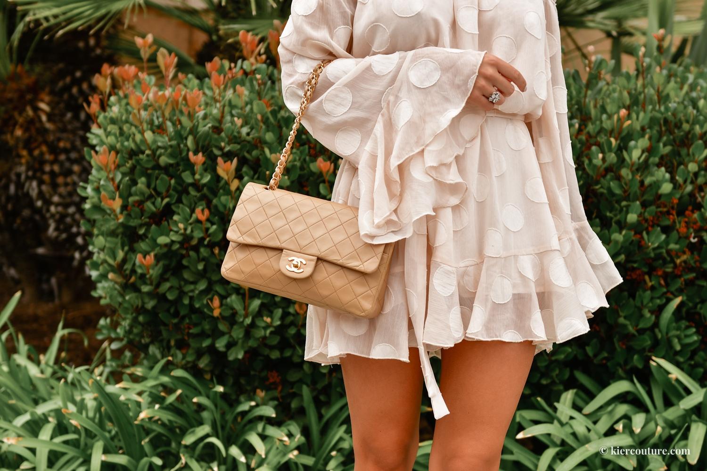 beige vintage Chanel