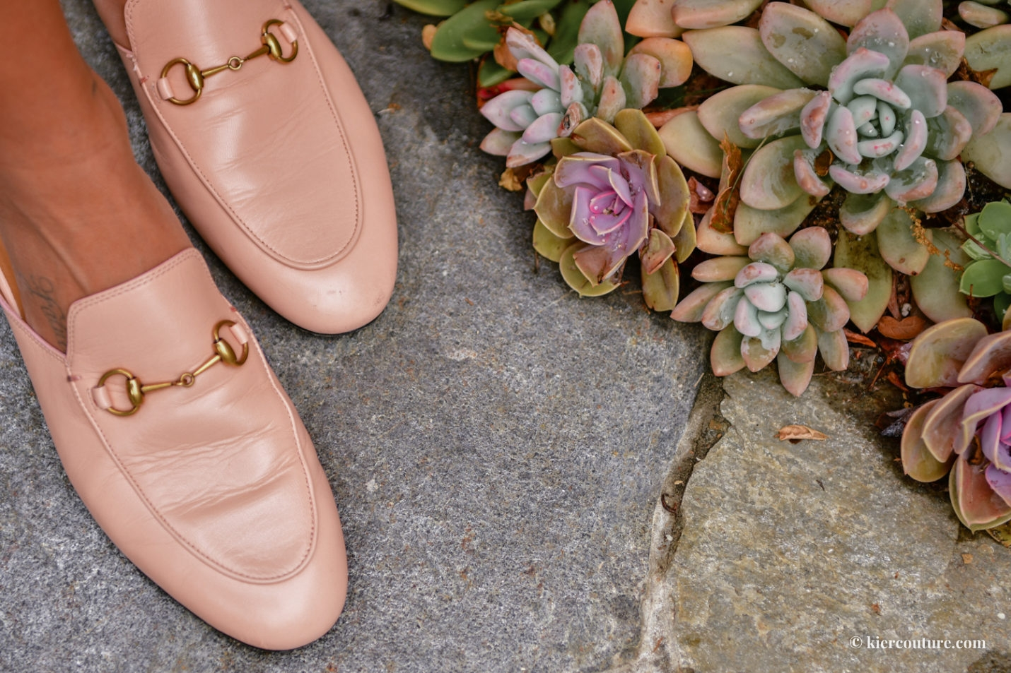 pink Gucci princetown loafers