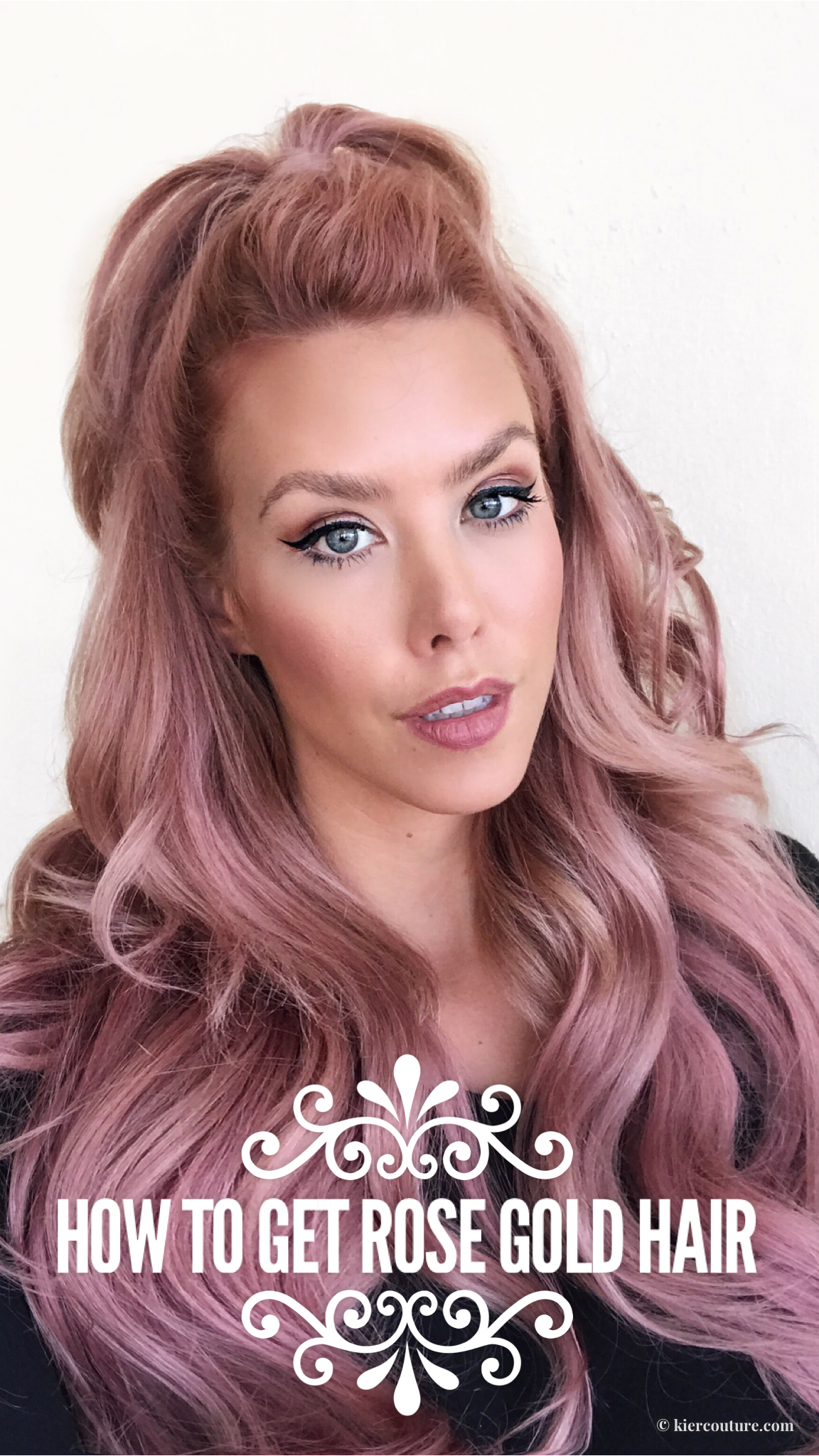 how to get rose gold hair