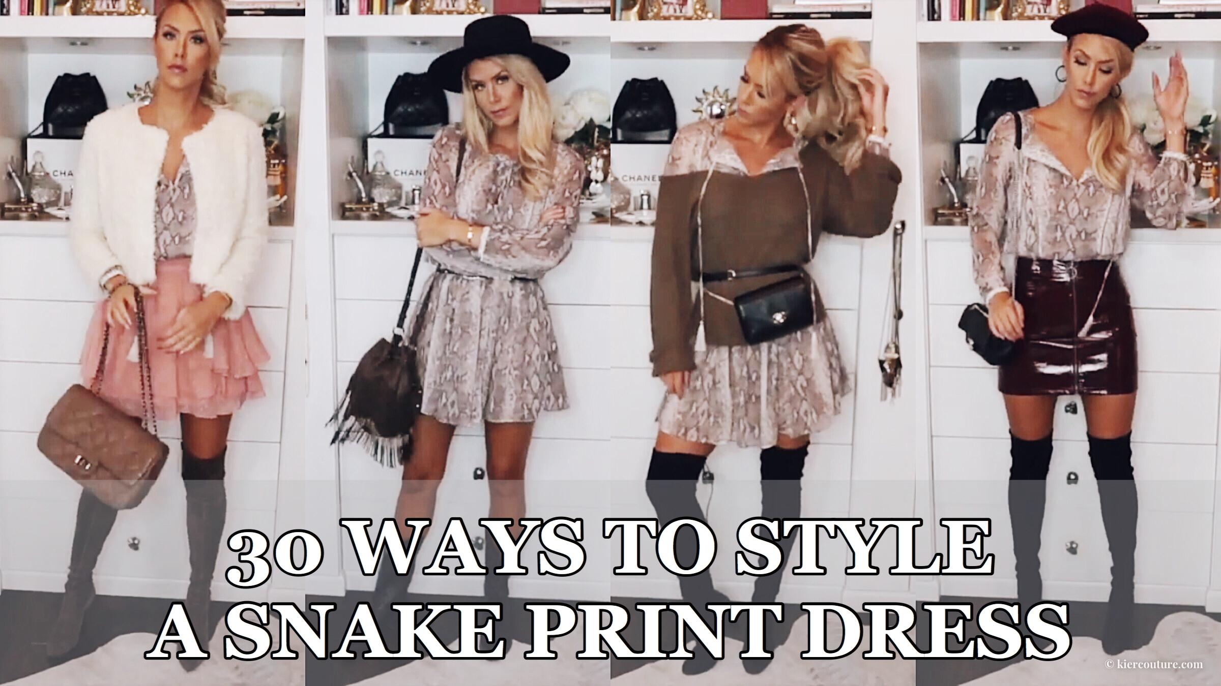 30 wears challenge: How to wear snake print