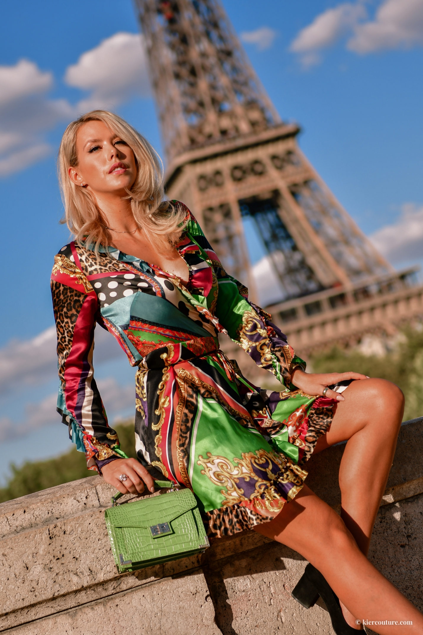 The Kooples baroque wrap dress