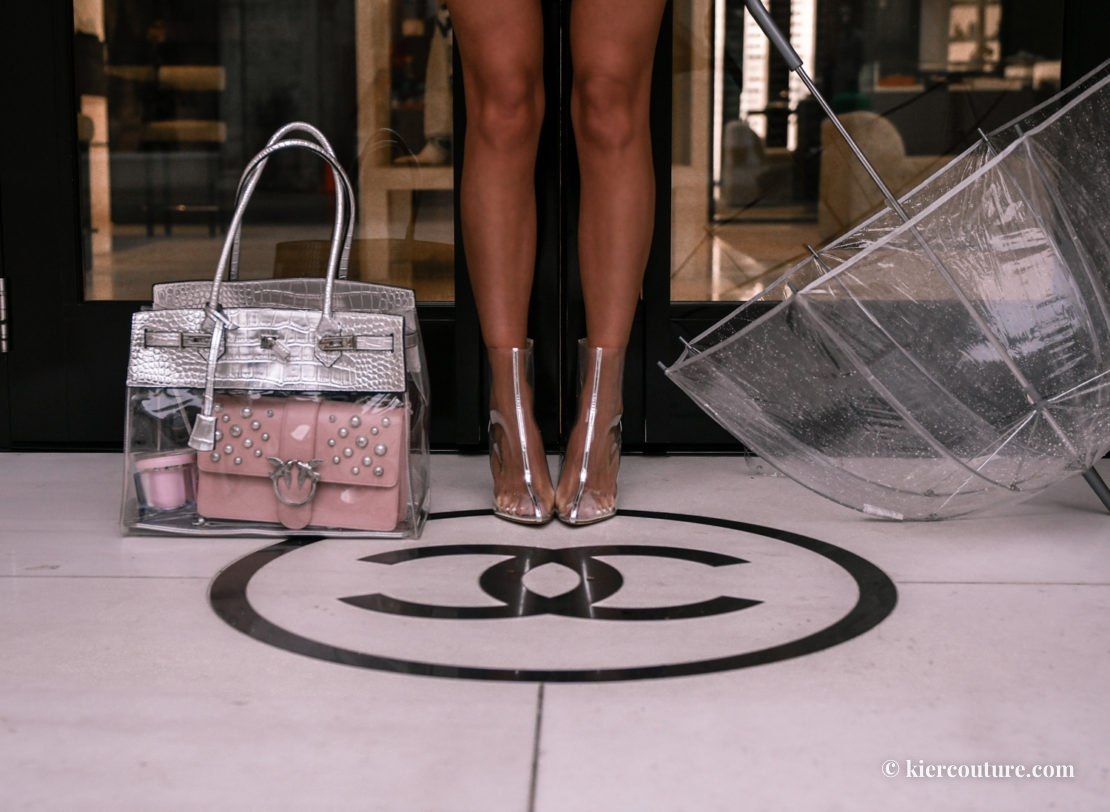Chanel clear boots