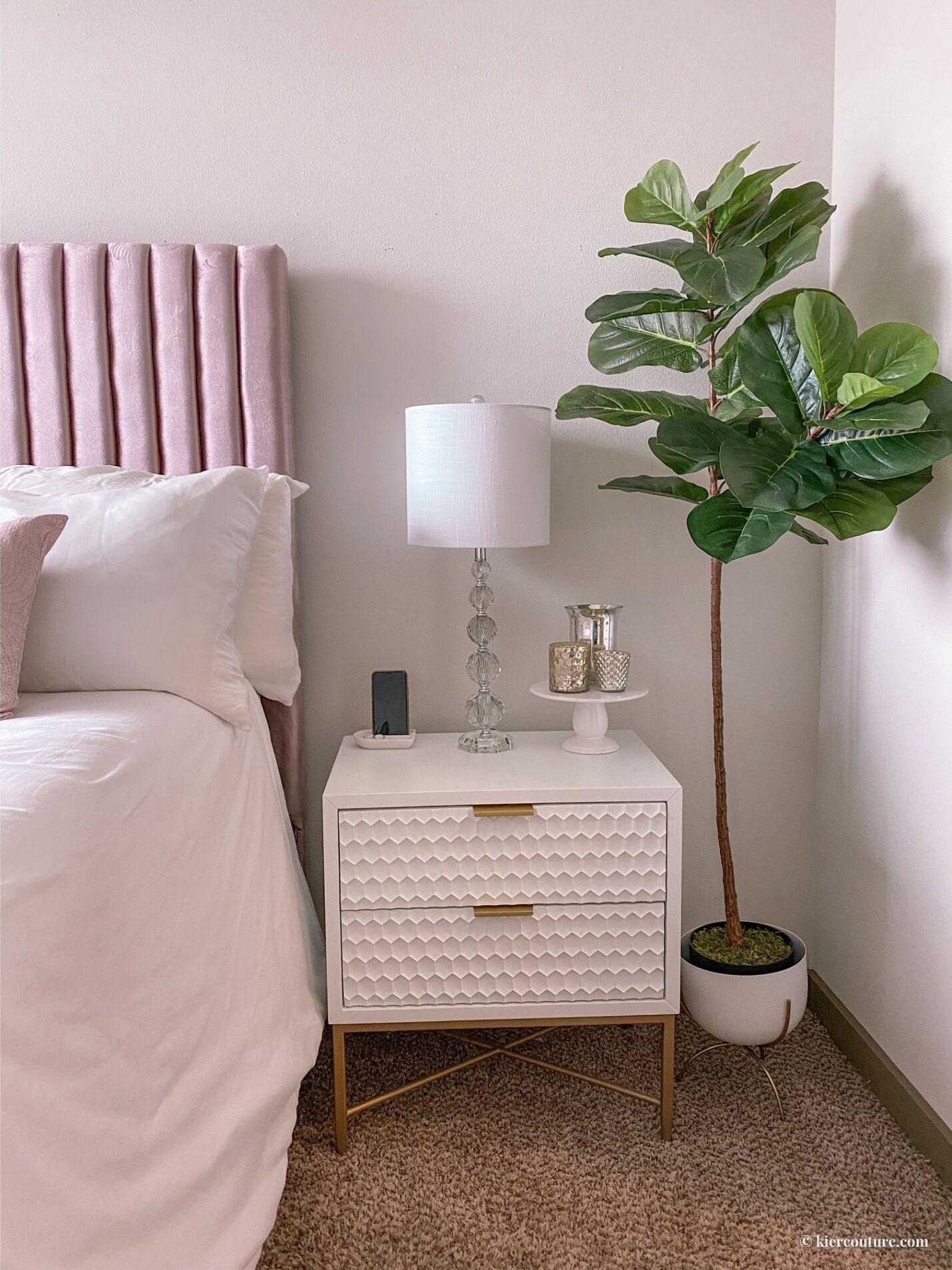 glam modern bedroom