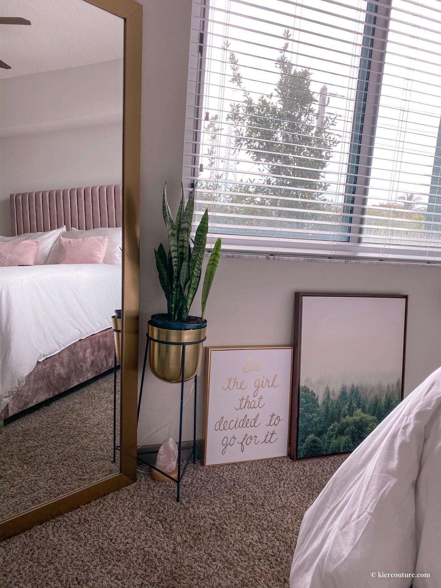 earthy glam bedroom