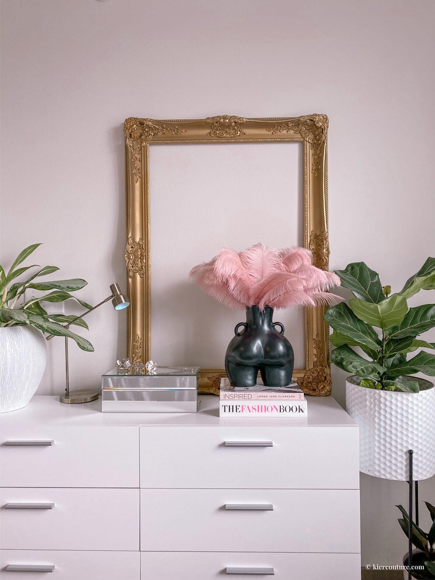 Gold Frame glam vintage bedroom decor