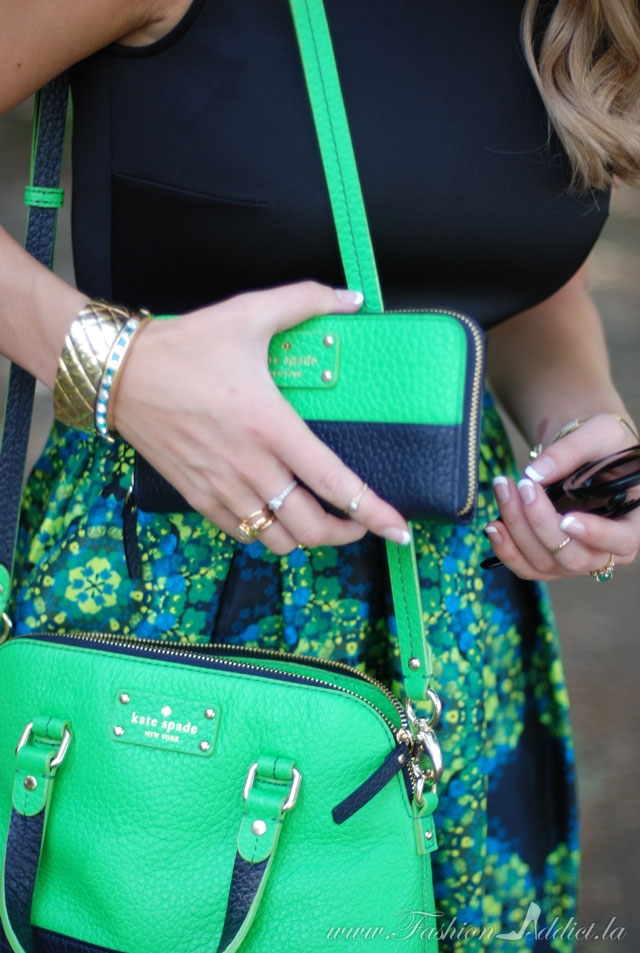 Green Kate Spade Bag and Wallet
